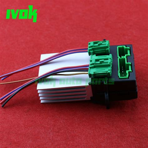 connect resistor to wire blower motor heater fan resistor connector wire for nissan tiida livina citroen peugeot renault