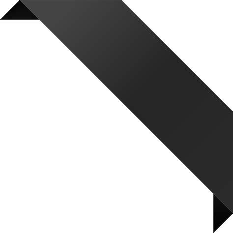 Black Corner by Corner Ribbon02 Black Vector Data Svg Vector