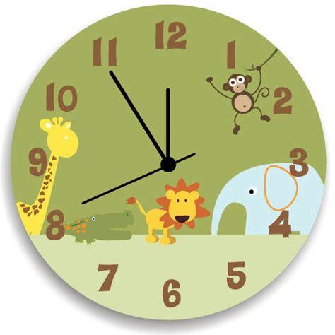 boys bedroom clock jungle animal safari wooden wall clock for boys bedroom