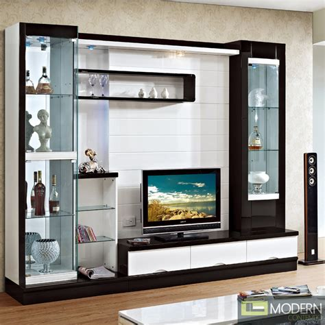 modern wall unit entertainment centers contemporary modern wall unit entertainment center