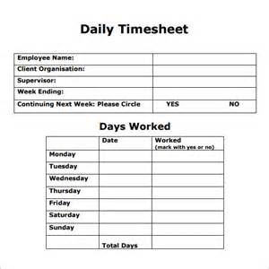 daily sheet template excel daily timesheet template 8 free for pdf excel