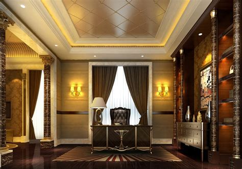 Livingroom Cabinets Classical Interior Pillars And Cabinets Download 3d House