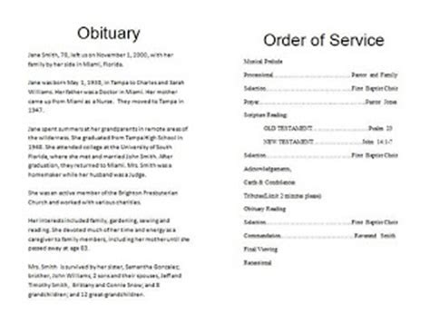 the funeral memorial program blog: how to write a funeral