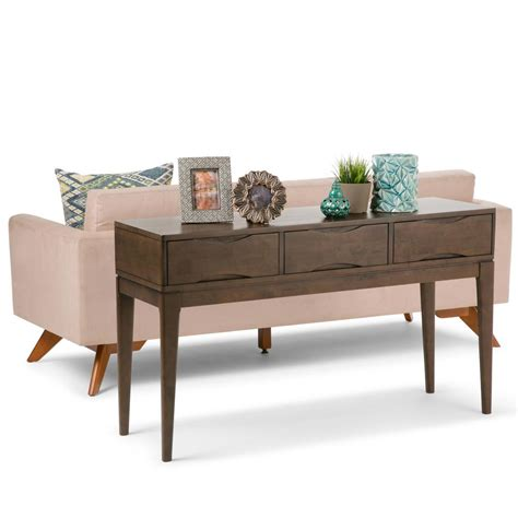 Sofa Table Home Depot by Simpli Home Walnut Brown Storage Console Table