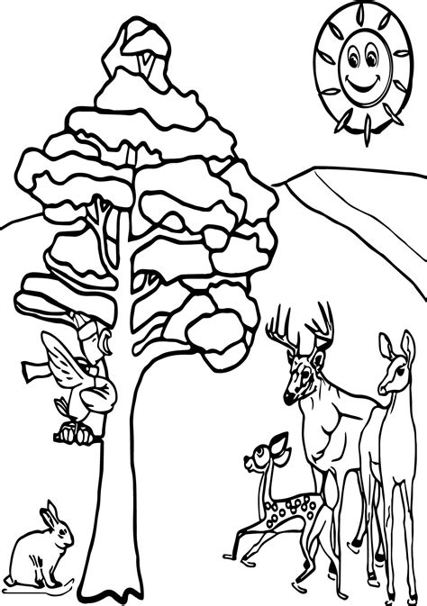 coloring pages winter animals animals in winter printable worksheets sketch coloring page