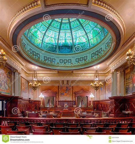 Pa State Court Records Pennsylvania State Supreme Court Chamber Stock Images