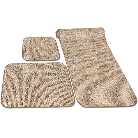 rv rugs decorian 3 rv rug set butter pecan prest o fit 5 0262 floor coverings cing world
