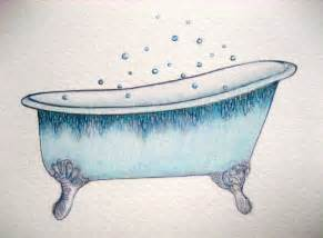 september 17 2011 blue bathtub a drawing a day for a year