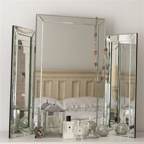 large bevelled dressing table mirror