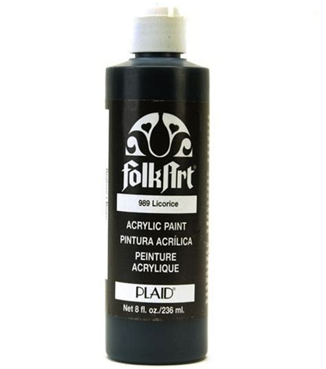 folkart 174 acrylic paint black licorice jo