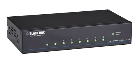 4k hdmi splitter 1 x 8 black box