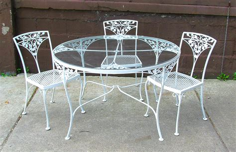 Iron Patio Table Set Dining Table Fascinating White Wrought Iron Outdoor Table For The Outside