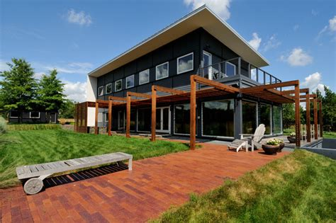 Prairie House No 2 Contemporary Exterior Modern Furniture Minneapolis