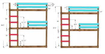 Blueprints For Triple Bunk Beds by Triple Bunk Bed Plans L Shaped Pdf Woodworking