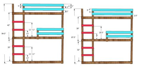 Bunk Bed Dimensions Plans Bunk Bed Plans L Shaped Pdf Woodworking