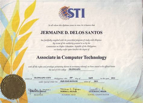 Mba Degree Philippines by Cv Web De Jermaine D Delos Santos Curriculum Vitae