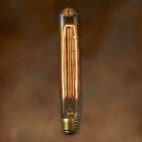 T9 Light Bulb bulbrite nos20t9 20 watt nostalgic edison t9 tubular vintage 1890 hairpin filament pack of 1
