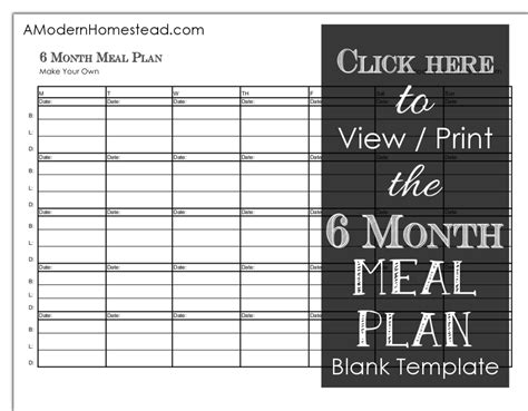 printable meal planner planning meals