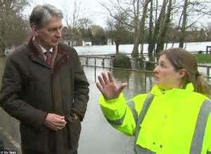 Lu Emergency Philip defence philip hammond berated on tv by flooded