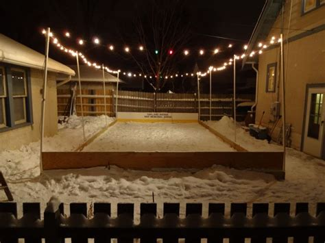 Backyard Rink Ideas Backyard Hockey Rink Lighting Outdoor Furniture Design