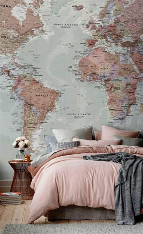 world map in bedroom 1001 id 233 es pour chambre rose et gris les nouvelles