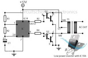 inverter 12v to 115v with 25 w power output circuit wiring diagrams
