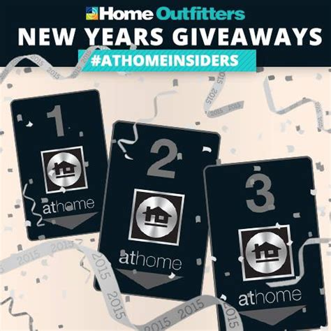 New Year Giveaways - home outfitters new years giveaway