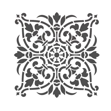 Ornament Stencil Template Large Wall Stencils Damask Stencil Diy Reusable Pattern Decor Faux Mural V0011 J Boutique