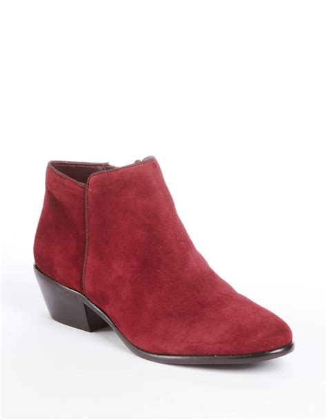 sam edelman petty boots sam edelman petty suede ankle boots in lyst
