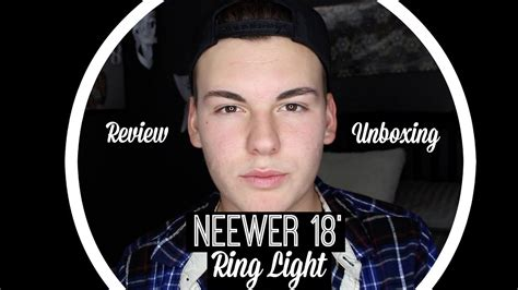 neewer ring light review neewer 18 ring light unboxing review jacob