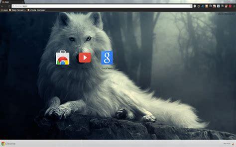 google themes wolf white wolf chrome web store