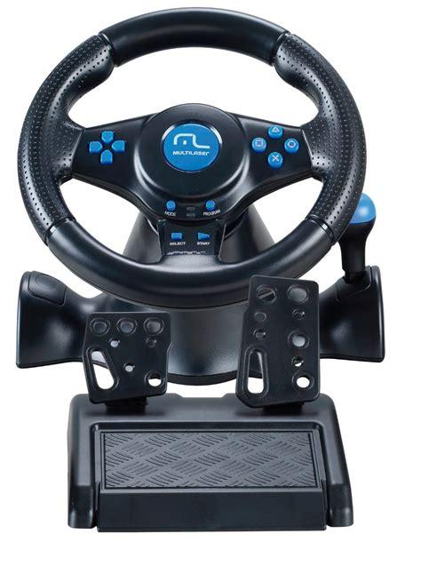 volante ps3 multilaser volante racer 3 em 1 para ps2 ps3 pc js073 r