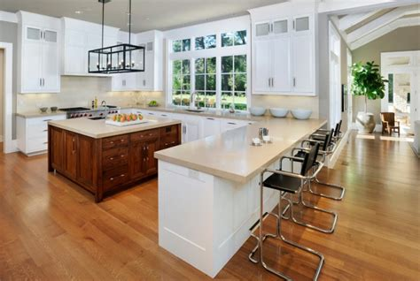 U Shaped Kitchen Design With Island | 20 u shaped kitchen designs ideas design trends