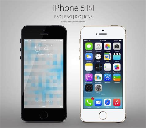 apple iphone 5s apple iphone 5s psd png ico icns by davinci1993 on
