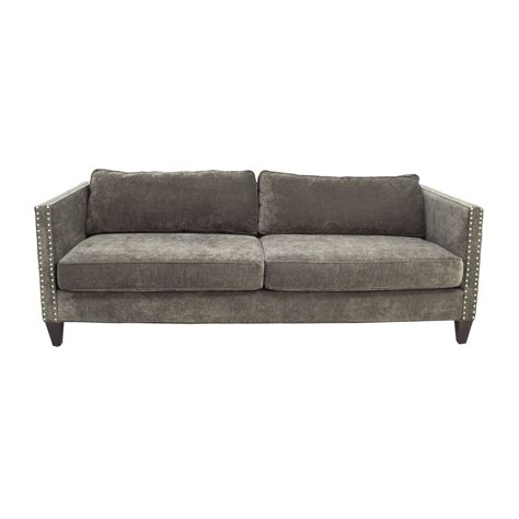 studded sectional grey studded sofa 30 off fl on white three cushion sofa