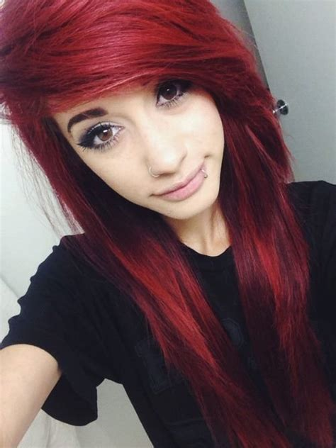 emo hairstyles with red highlights 45 brand new scene haircuts for crazy cool vibrant