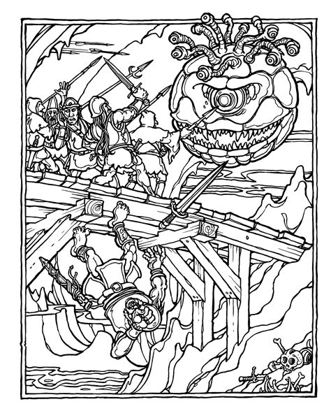 coloring book pdf brains the official advanced dungeons and dragons