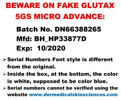 Glutax 5gs Micro beware on glutax 5gs micro advance glutathione