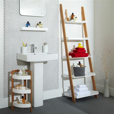 Cottage bathroom look add this bathroom ladder shelf homesfeed