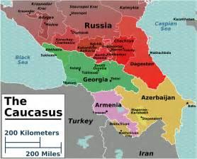caucasia map opinions on caucasus