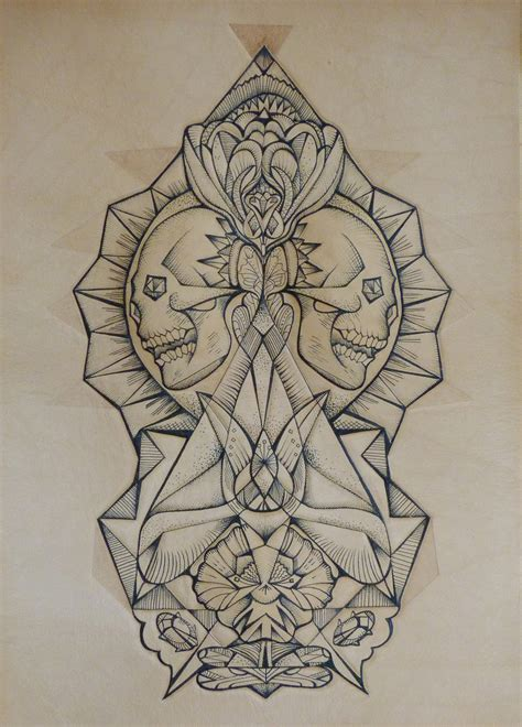 leather tattoo punctured artefact tattooed leather skull with orchid