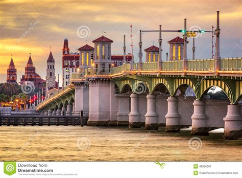 st augustine florida business jet traveler st augustine florida skyline stock photo image 49926061