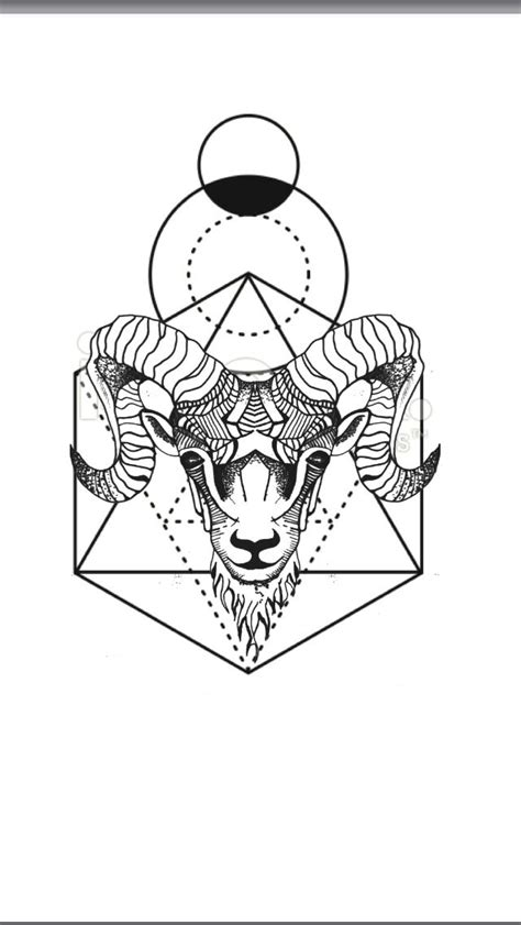 geometric animal tattoo geometric animal aries ram geometric background