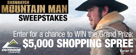 Sasquatch Mountain Man Sweepstakes - bass pro shops the best hunting fishing cing outdoor gear