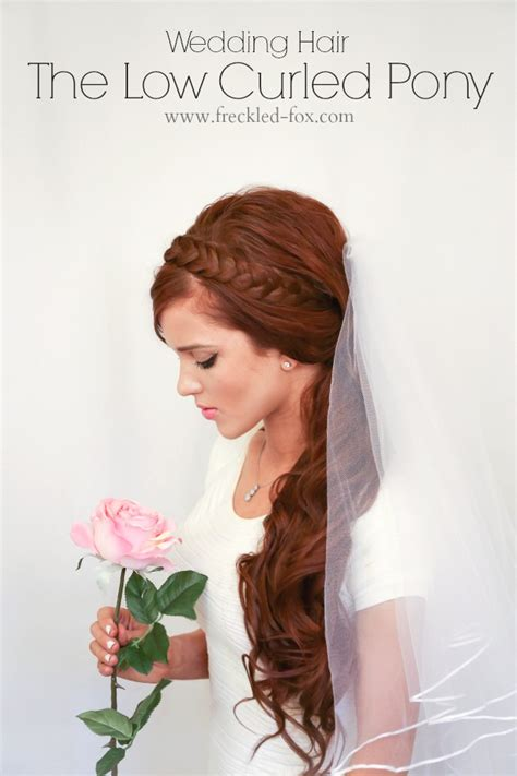 The Freckled Fox: WEDDING HAIR WEEK: The Low Curled Pony