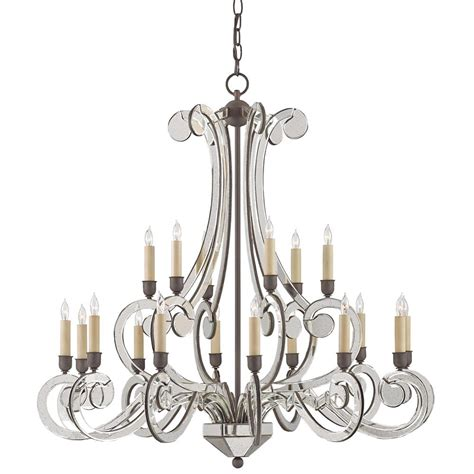 Modern Classic Chandelier Fallon Modern Classic Curved Mirror 18 Light Chandelier