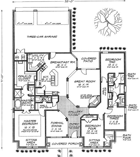 monster house floor plans bungalow style house plans 2610 square foot home 1