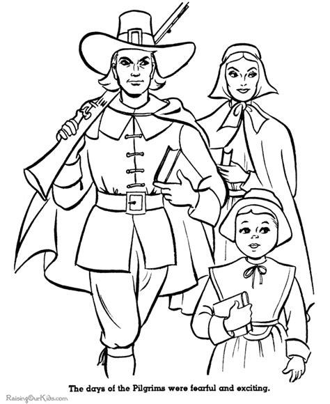 pilgrim coloring sheets 003