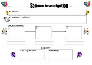 worksheet for planning fair tests by pwilloughby3