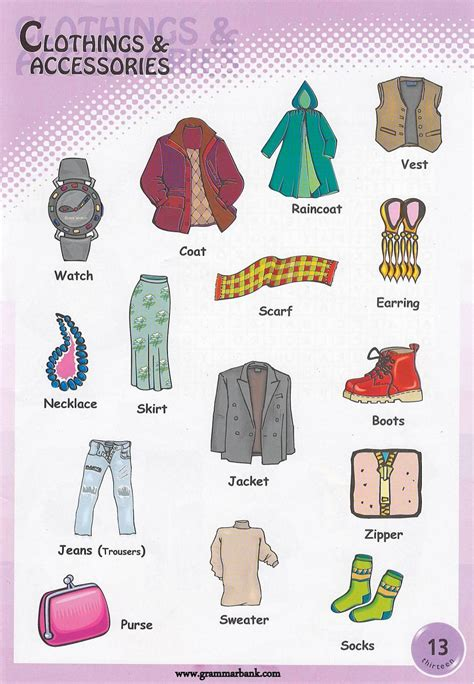 coats and sweaters clothing and accessories pictionary grammarbank